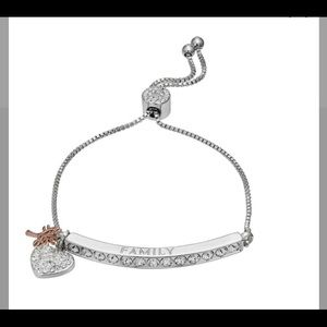 "Brilliance ""Family"" Bar Bracelet with Swarovski"